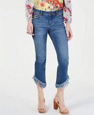 Inc Rainbow Fringe Cropped Skinny Jeans regular 16