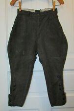 Vtg 40's Boys Gray Motorcycle Riding Hunting Costume Jodhpurs Knicker Pants 6