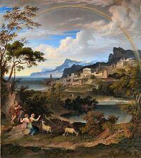 Heroic Landscape with Rainbow 1824 by Joseph Anton Koch Old Masters 11x12 Print