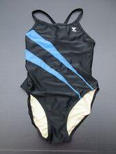 TYR Size 6/8 Women's Black/Blue One-Piece Swimming Suit 1C