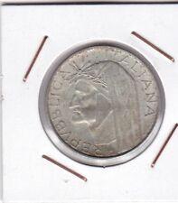 Italy : 500 Lire 1965 ( Dante )  UNC ( silver )