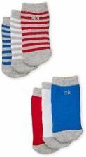 Bnew CALVIN KLEIN 6-pack striped crew socks, 12-24months