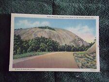 Vintage Postcard Stone Mountain. Largest Stone In The World, Atlanta, Georgia