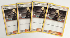 4x CYNTHIA 119/156 Pokemon TCG : S&M Ultra Prism Supporter - PLAYSET of 4
