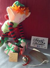 Gold I believe polar express style jingle santa christmas box bell & Magic Elf