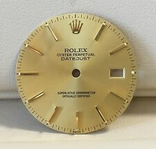 Genuine Gold Rolex Dial DateJust w/Gold Markers