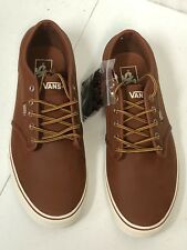 NEW VANS MENS Atwood Leather Brown Marshmallow SZ 11 VN0A327LLYV