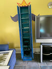 SC8010+C.+Thayer+Blue+Decorated+Shoe+Cabinet+LOCAL+PICKUP