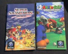 Nintendo GameCube  SUPER SMASH BROS. Melee.  & Mario Golf -Manuals Booklet Only.