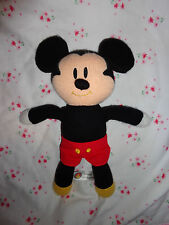 "Disney MICKEY MOUSE  Knit Baby Stuffed Animal 12"" Red Shorts Cute Toy"