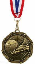 Paquet de 100 Personnalisé Football Botte & Boule Médailles & Rubans Gravé