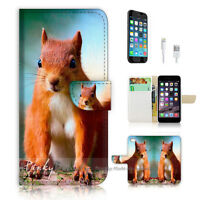 ( For iPhone 7 ) Wallet Case Cover P1697 Squirrel