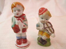 Vintage Occupied Japn 2 Boy Figurines with toy Horse & Violin