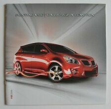 PONTIAC VIBE 2009 dealer brochure catalog - French - Canada