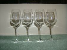 LUIGI BORMILI  WINE GLASSES SET OF 4 CLEAR GLASS  9 INCHES TALL ETCHED  SIGNED