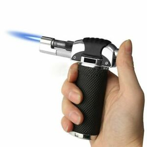 Adjustable Refillable Blow Torch Flame Kitchen Chef Cook Food Light Fire BBQ_UK