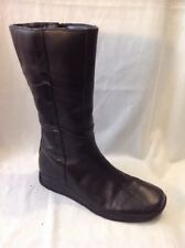 Lilley&skinner Black Mid Calf Leather Boots Size 39