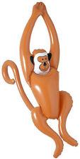 Schaukelnder Affe 90cm aufblasbar NEU - Partyartikel Dekoration Karneval Faschin
