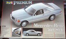 "sALe REVELL PREMIUM MERCEDES BENZ 560 SEC 1:24 SCALE MODEL CAR KIT 7158 560SEC """
