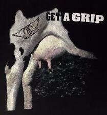 Vintage 90s Giant Licensed Aerosmith Band Tour Cotton T-Shirt Get A Grip Rock XL