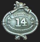 c1900 Antique Passaic N.J. Fire Department Badge # 14 New Jersey