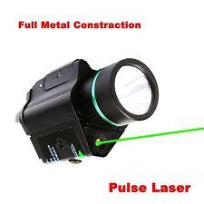 Combo CREE LED Flashlight&Metal Construction Green Laser Sight for Pistol gun