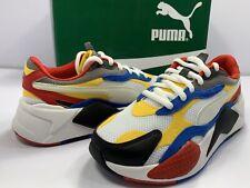 Puma Kids Boy's RS-X³ Puzzle(Big Kid) White/Spectra Yellow/Black/ Size 5.5 M US