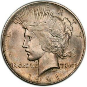 1921 High Relief Silver Peace Dollar, PCGS MS64 CAC, WOW, Key Date, Trueview