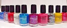 10pc Mini CND CREATIVE PLAY Nail Polish GLITTER SHIMMER CREME Gift Party Favors