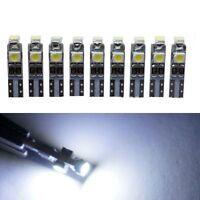 10x 3528 SMD 3 LED White 5000K 58 70 73 74 T5 Dashboard Gauge Wedge Bulb Ligh LD