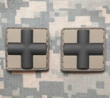 3D PVC MEDIC CROSS EMT US ARMY PARAMEDIC MEDICAL ACU DARK HOOK 2 PATCH