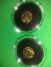 ONE 1865 Brilliant Peso Eperador Maximilano Mexican Gold Coin 22KIhge token