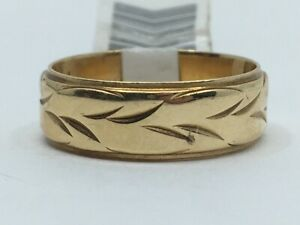 Gent's Gold Wedding Band 14K Yellow Gold 5.3g Size:8 (RO1003532)