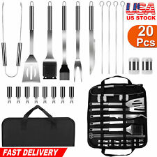 20pcs Bbq Grill Tool Set Stainless Steel Barbecue Utensil Kit Grill Accessories