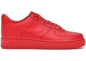 """Nike Air Force 1 One LV8 """"Triple Red"""" University Red CW6999-600 Men & GS 3.5y-15"""