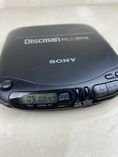 Sony Walkman D-131 CD Discman Black Portable Player Mega Bass *TESTED WORKING*
