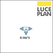 Luceplan D30/5 Giunto a 3 vie Grigio per Pod Lens
