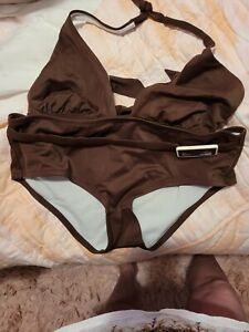 Victoria's Secrets Vintage Women's M Bikini- top & bottom in Brown