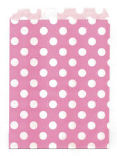 25 Pcs Pink Small Dots 5x7 Print Paper Gift Bags Favor Candy Shop