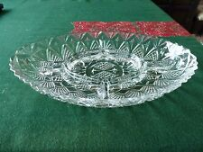 Large Vintage French glass Segmented Dish