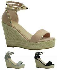 Zapatos de tacón de mujer sin marca de ante