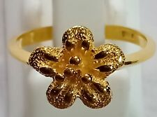925 Sterling Silver Handmade Rings,Gold Plated Rings,Women Flowers Amazing Rings