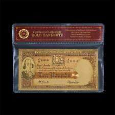 1954 Australian 10 Pound Colour Gold, Coombs/Wilson Note In COA Sleeve -