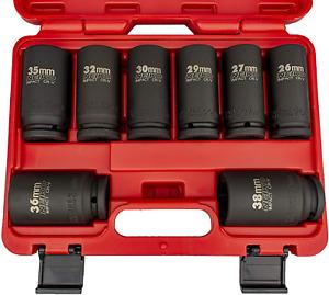 "Neiko 02460A 3/4"" Drive Deep Impact Socket Set, 8 Piece Jumbo Assortment | Sizes"
