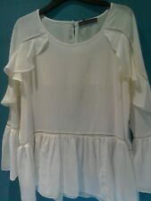 MARKS & SPENCER ladies pretty ivory top  size 16  new /cost £35 . made in India.