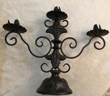 Southern Living At Home Sherwood Forest Iron Candelabra Candle Holder