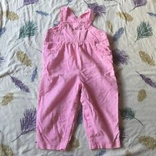 2nd Step Pink Floral Corduroy Ruffle Bib Overalls Pants 24 Months