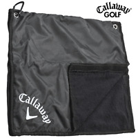 CALLAWAY RAIN HOOD TOWEL / WATERPROOF GOLF BAG RAIN HOOD / GOLF TOWEL