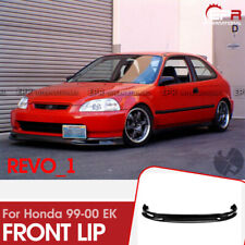 For Honda 99-00 EK Civic SP Style Carbon Fiber Glossy Front Lip Exterior kit