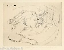 MORETTI LUCIEN PHILIPPE GRAVURE 1965 SIGNÉ CRAYON NUM/25 HANDSIGNED NUMB ETCHING